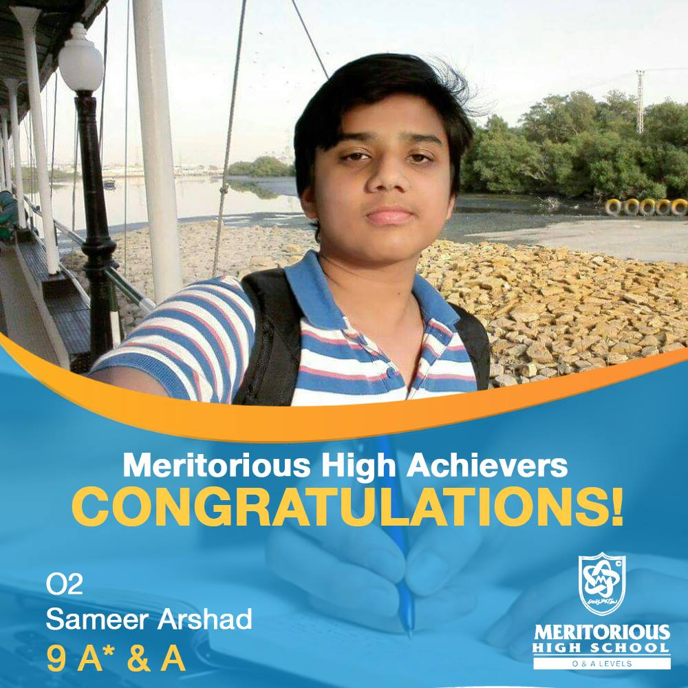 Meritorious High Achievers , CIE 2017 results