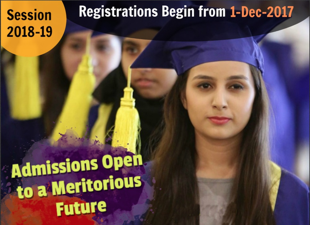 Meritorious Admissions Open 2018-19