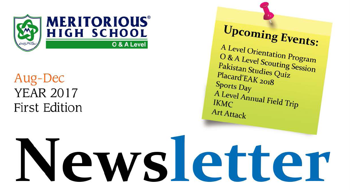 Meritorious high school Newsletter banner